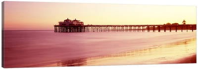 Pier at sunrise, Malibu Pier, Malibu, Los Angeles County, California, USA Canvas Art Print