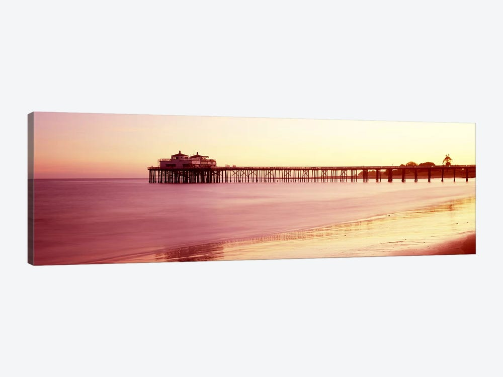 Pier at sunrise, Malibu Pier, Malibu, Los Angeles County, California, USA by Panoramic Images 1-piece Canvas Art