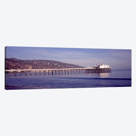 Pier over an ocean, Malibu Pier, Malibu, Los Angeles County, California, USA Canvas Print #PIM8935} by Panoramic Images Canvas Artwork