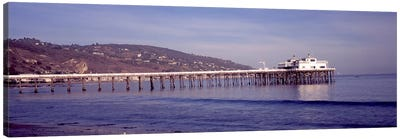 Pier over an ocean, Malibu Pier, Malibu, Los Angeles County, California, USA Canvas Art Print
