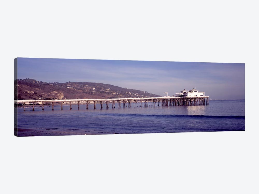 Pier over an ocean, Malibu Pier, Malibu, Los Angeles County, California, USA by Panoramic Images 1-piece Art Print