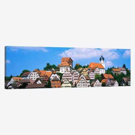 Buildings on a hill, Altensteig, Black Forest, Germany Canvas Print #PIM893} by Panoramic Images Canvas Art Print