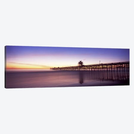 Silhouette of a pier, San Clemente Pier, Los Angeles County, California, USA #2 Canvas Print #PIM8940} by Panoramic Images Canvas Art