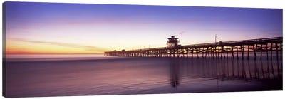 Silhouette of a pier, San Clemente Pier, Los Angeles County, California, USA #2 Canvas Print #PIM8940
