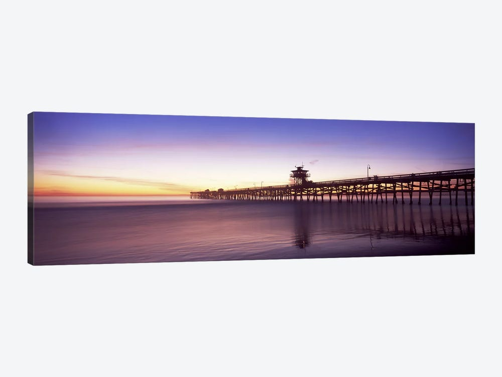 Silhouette of a pier, San Clemente Pier, Los Angeles County, California, USA #2 by Panoramic Images 1-piece Canvas Art Print