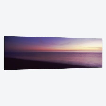 Ocean at sunset, Los Angeles County, California, USA Canvas Print #PIM8943} by Panoramic Images Canvas Art