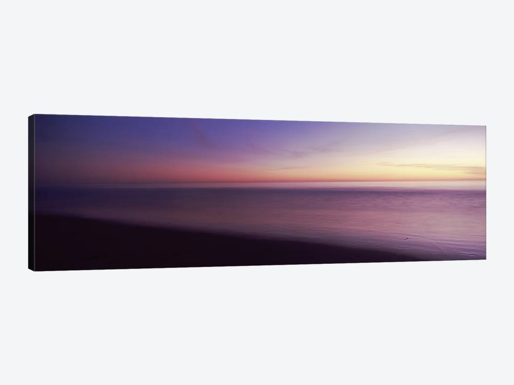 Ocean at sunset, Los Angeles County, California, USA by Panoramic Images 1-piece Canvas Artwork