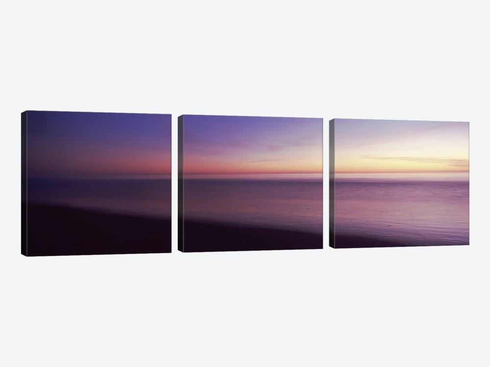 Ocean at sunset, Los Angeles County, California, USA by Panoramic Images 3-piece Canvas Art