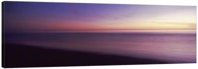 Ocean at sunset, Los Angeles County, California, USA Canvas Art Print