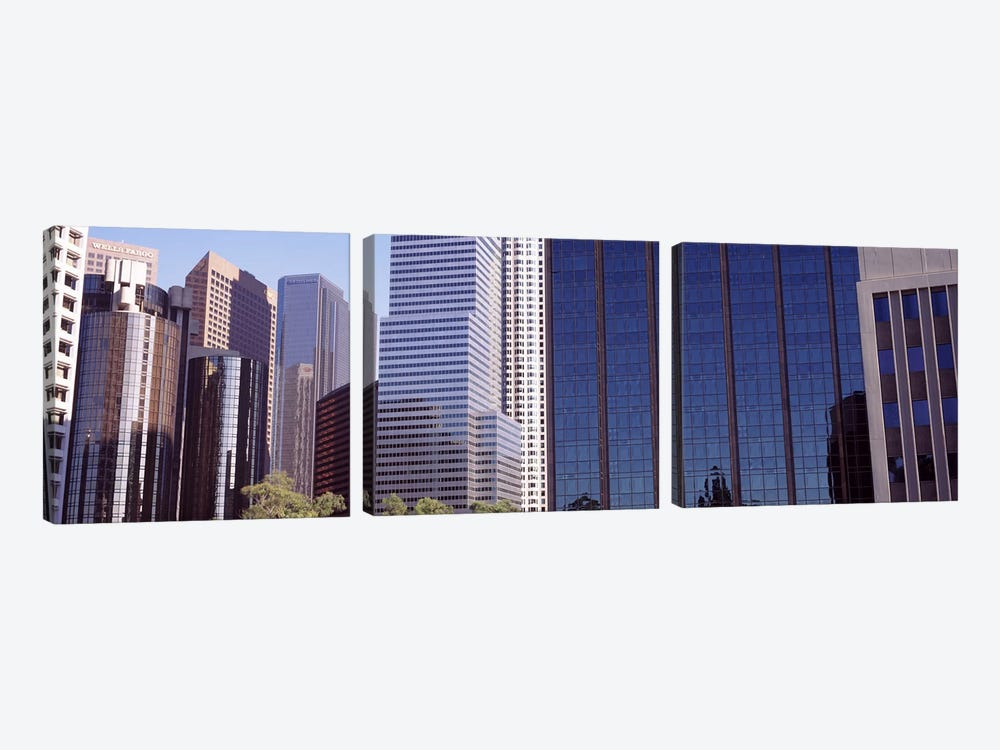 Skyscrapers in a city, City Of Los Angeles, Los Angeles County, California, USA #2 by Panoramic Images 3-piece Canvas Art
