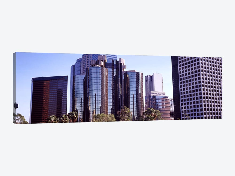 Skyscrapers in a city, City Of Los Angeles, Los Angeles County, California, USA #3 by Panoramic Images 1-piece Canvas Art Print
