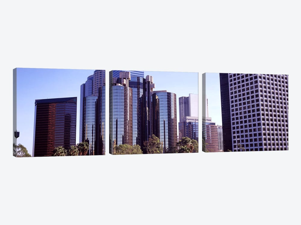 Skyscrapers in a city, City Of Los Angeles, Los Angeles County, California, USA #3 by Panoramic Images 3-piece Canvas Art Print