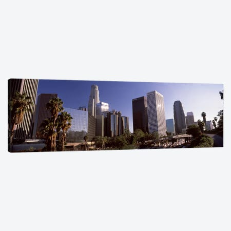 Skyscrapers in a cityCity of Los Angeles, Los Angeles County, California, USA Canvas Print #PIM8949} by Panoramic Images Canvas Art