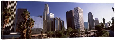 Skyscrapers in a cityCity of Los Angeles, Los Angeles County, California, USA Canvas Print #PIM8949