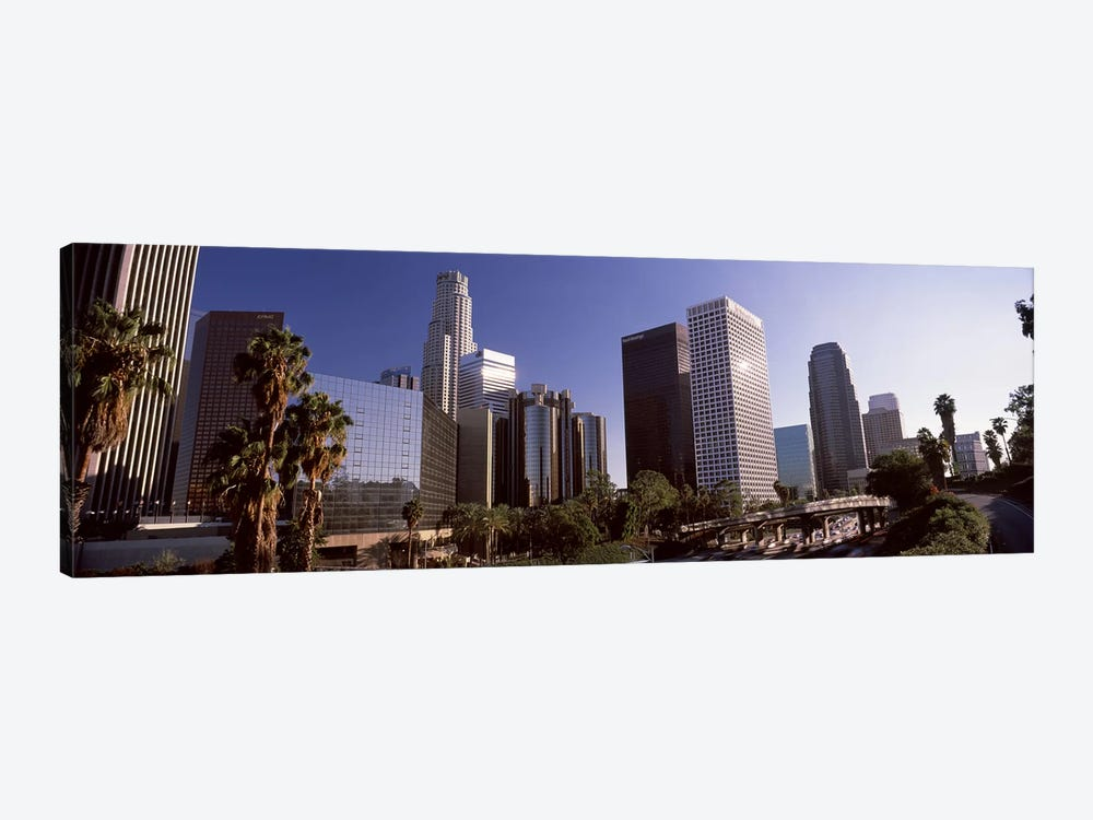 Skyscrapers in a cityCity of Los Angeles, Los Angeles County, California, USA by Panoramic Images 1-piece Canvas Artwork