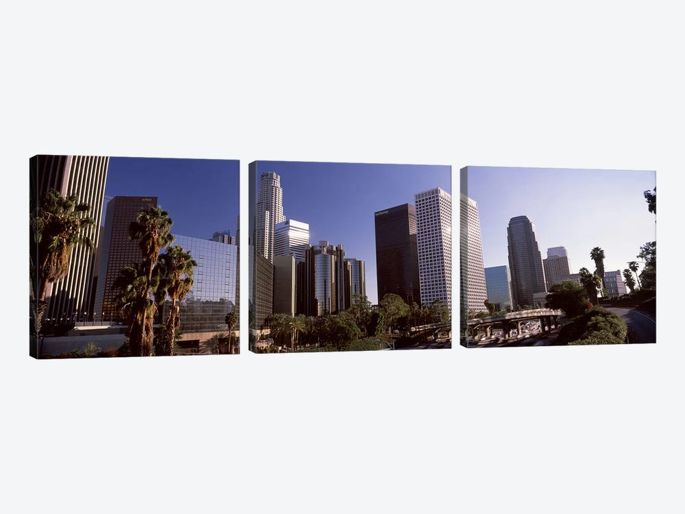 Skyscrapers in a cityCity of Los Angeles, Los Angeles County, California, USA by Panoramic Images 3-piece Canvas Art