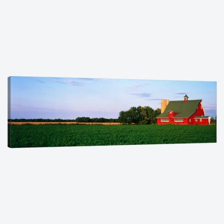 Red Barn Kankakee IL USA Canvas Print #PIM894} by Panoramic Images Canvas Wall Art