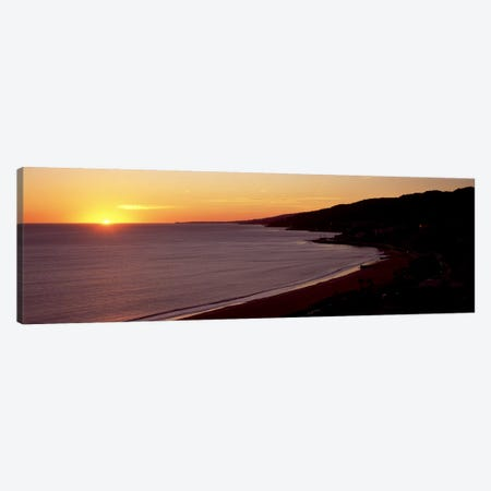Beach at sunset, Malibu Beach, Malibu, Los Angeles County, California, USA Canvas Print #PIM8953} by Panoramic Images Canvas Print