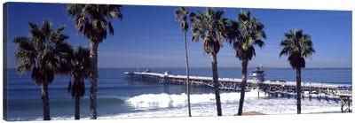 Pier over an ocean, San Clemente Pier, Los Angeles County, California, USA Canvas Art Print