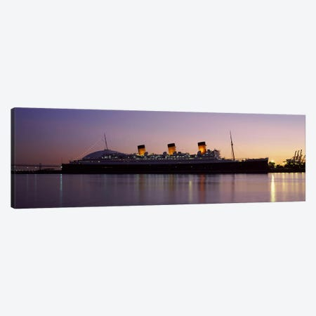RMS Queen Mary in an ocean, Long Beach, Los Angeles County, California, USA Canvas Print #PIM8956} by Panoramic Images Canvas Wall Art