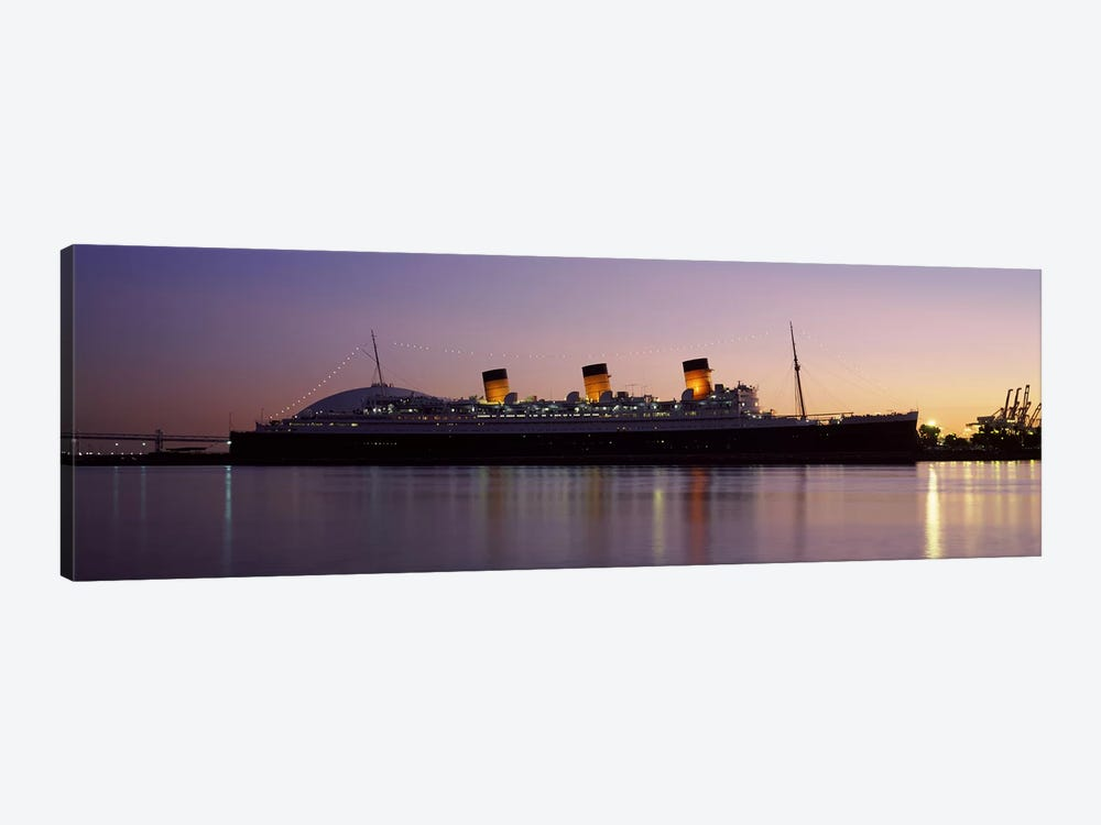 RMS Queen Mary in an ocean, Long Beach, Los Angeles County, California, USA by Panoramic Images 1-piece Canvas Art