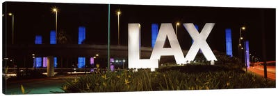 Neon sign at an airport, LAX Airport, City Of Los Angeles, Los Angeles County, California, USA Canvas Print #PIM8957