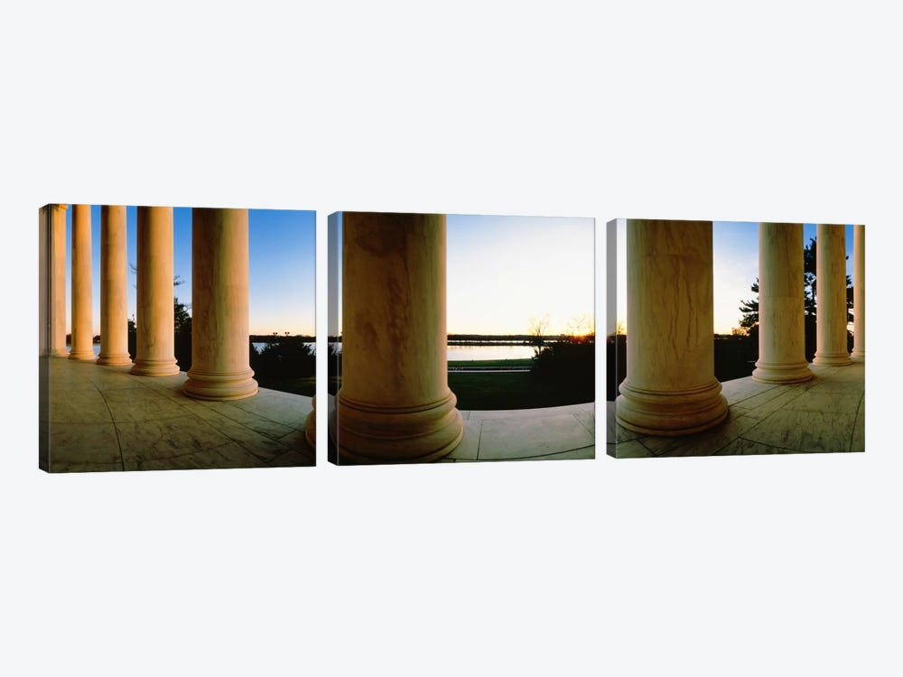 Jefferson Memorial Washington DC USA #2 by Panoramic Images 3-piece Canvas Print