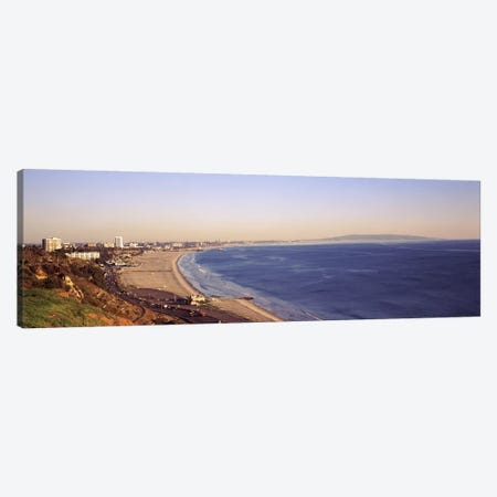 City at the waterfront, Santa Monica, Los Angeles County, California, USA Canvas Print #PIM8960} by Panoramic Images Canvas Artwork