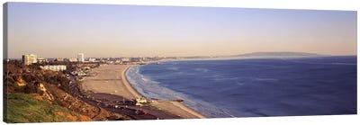 City at the waterfront, Santa Monica, Los Angeles County, California, USA Canvas Print #PIM8960
