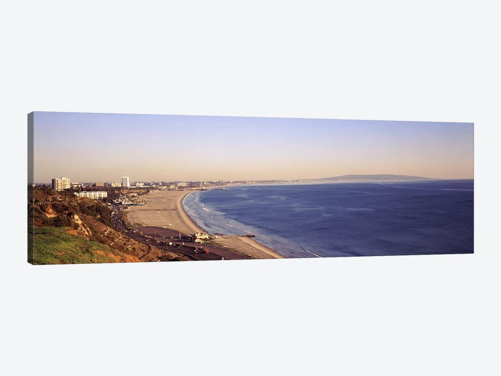 City at the waterfront, Santa Monica, Los Angeles County, California, USA by Panoramic Images 1-piece Canvas Print