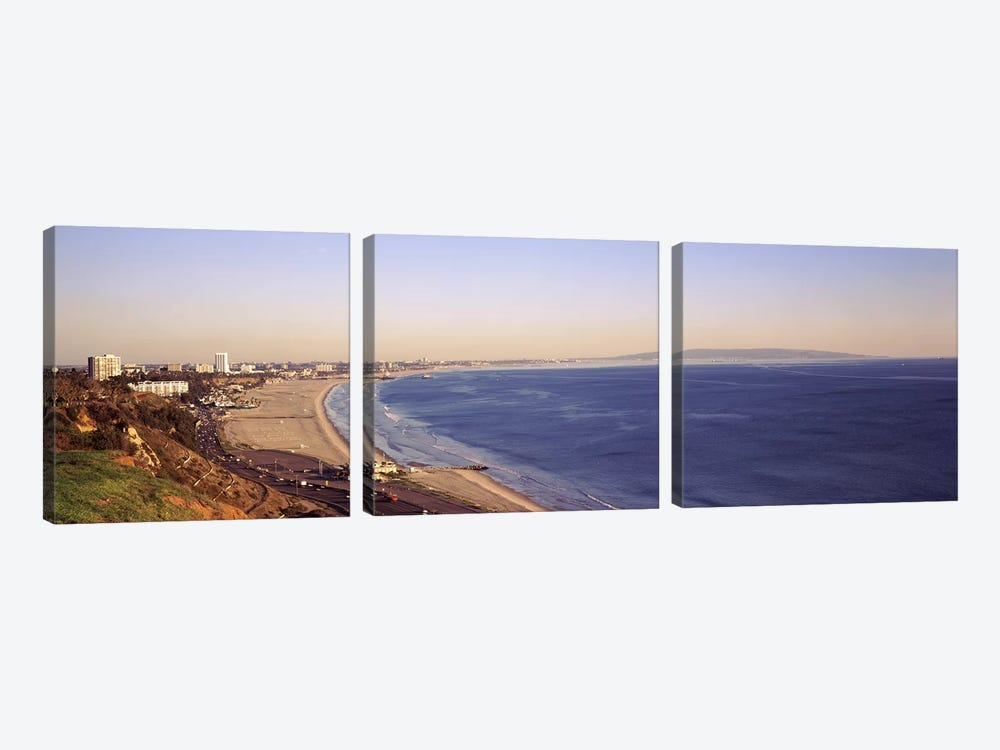 City at the waterfront, Santa Monica, Los Angeles County, California, USA by Panoramic Images 3-piece Art Print