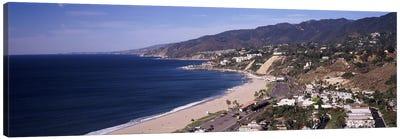 High angle view of a beach, Highway 101, Malibu Beach, Malibu, Los Angeles County, California, USA Canvas Print #PIM8961