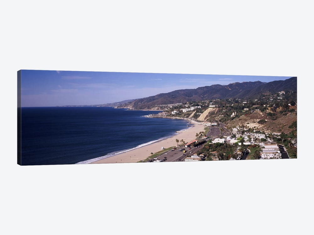 High angle view of a beach, Highway 101, Malibu Beach, Malibu, Los Angeles County, California, USA by Panoramic Images 1-piece Canvas Artwork
