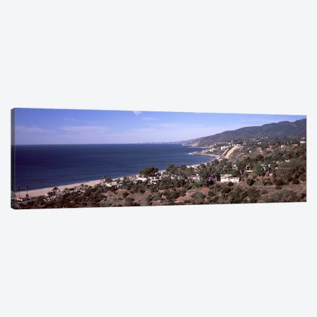 High angle view of an ocean, Malibu Beach, Malibu, Los Angeles County, California, USA Canvas Print #PIM8962} by Panoramic Images Canvas Artwork