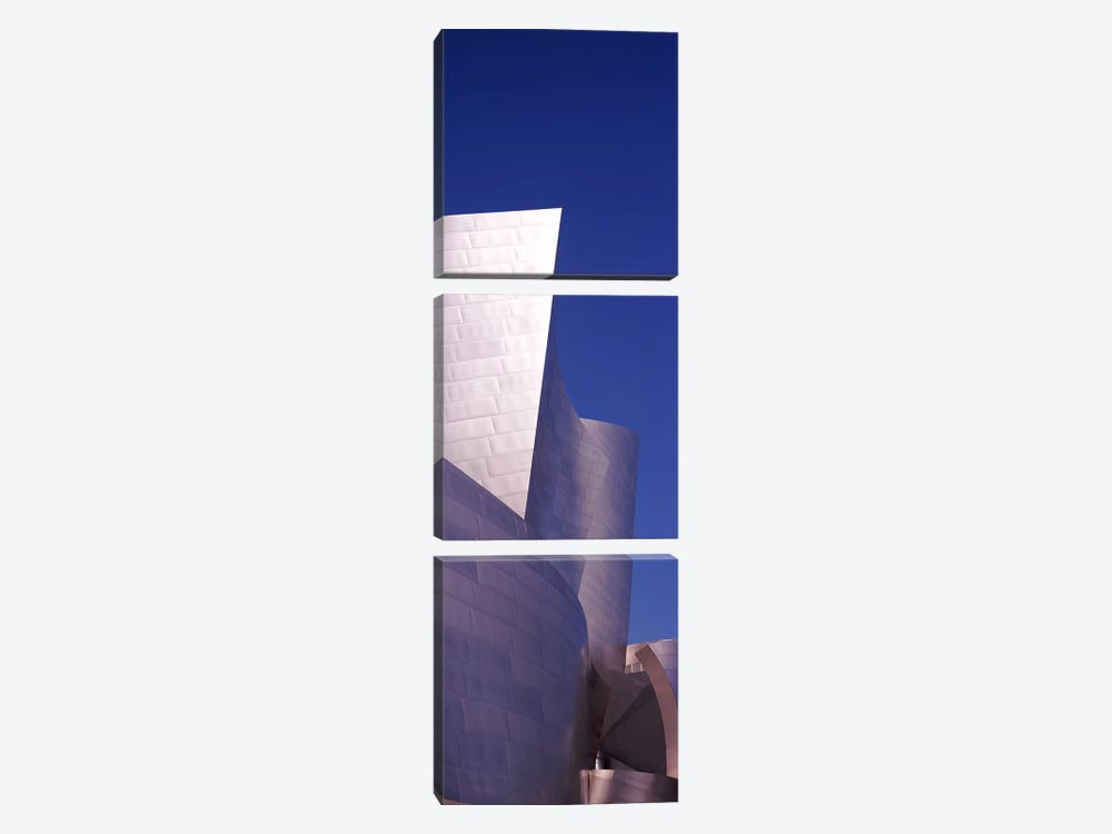 Low angle view of a concert hall, Walt Disney Concert Hall, City Of Los Angeles, Los Angeles County, California, USA by Panoramic Images 3-piece Canvas Wall Art