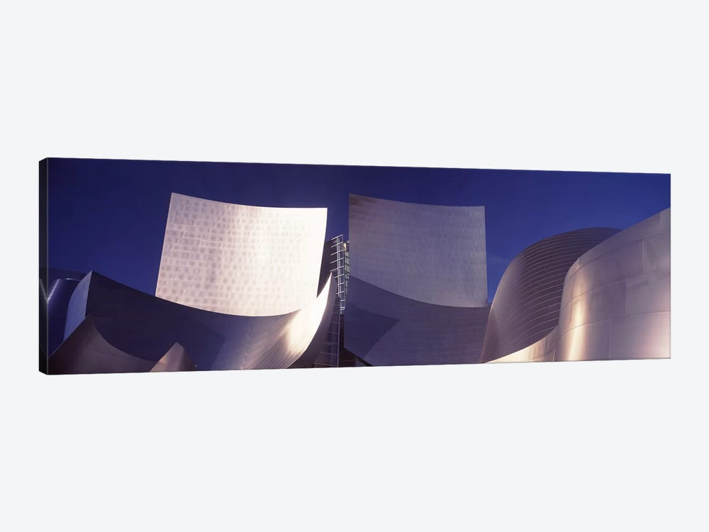 Low angle view of a concert hall, Walt Disney Concert Hall, City Of Los Angeles, Los Angeles County, California, USA #2 by Panoramic Images 1-piece Canvas Print
