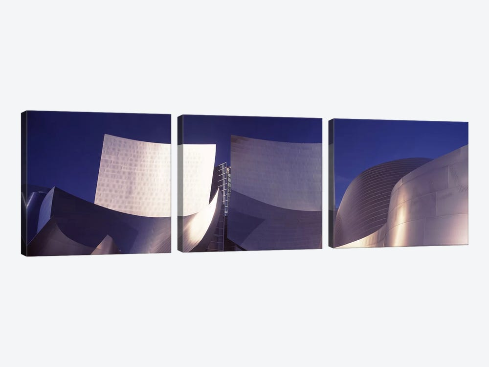 Low angle view of a concert hall, Walt Disney Concert Hall, City Of Los Angeles, Los Angeles County, California, USA #2 by Panoramic Images 3-piece Canvas Print