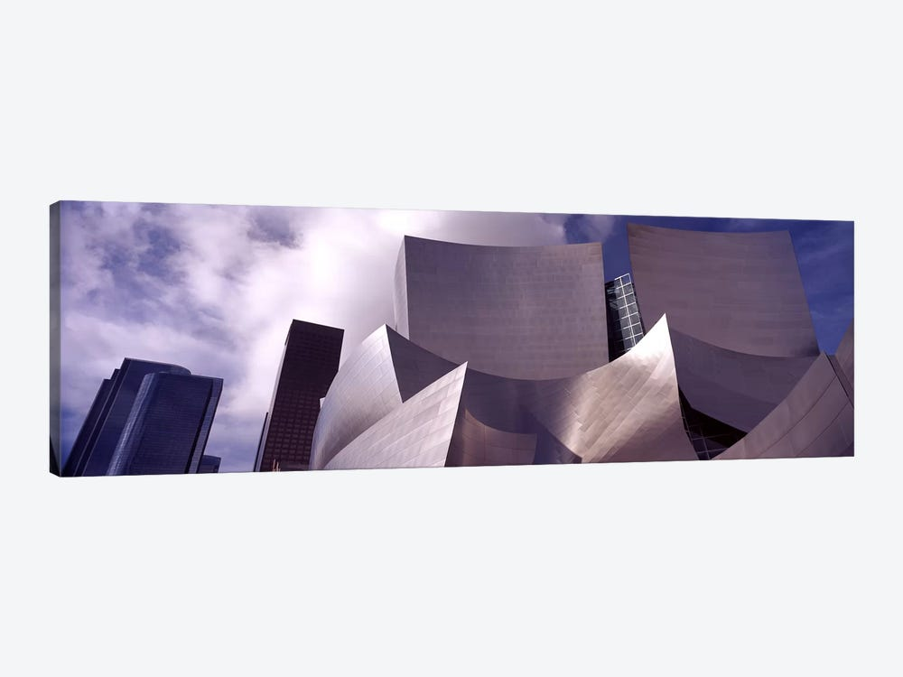 Low angle view of a concert hall, Walt Disney Concert Hall, City Of Los Angeles, Los Angeles County, California, USA #4 by Panoramic Images 1-piece Canvas Print