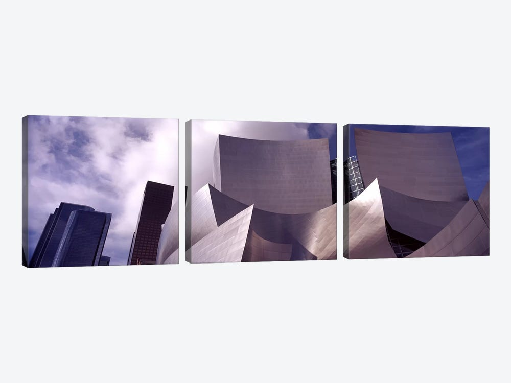 Low angle view of a concert hall, Walt Disney Concert Hall, City Of Los Angeles, Los Angeles County, California, USA #4 by Panoramic Images 3-piece Canvas Print