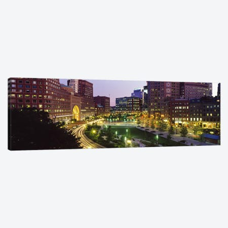Buildings in a city, Atlantic Avenue, Wharf District, Boston, Suffolk County, Massachusetts, USA 2010 Canvas Print #PIM8976} by Panoramic Images Canvas Wall Art