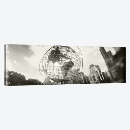 Steel globe, Columbus Circle, Manhattan, New York City, New York State, USA Canvas Print #PIM8978} by Panoramic Images Art Print