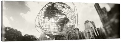 Steel globe, Columbus Circle, Manhattan, New York City, New York State, USA Canvas Print #PIM8978