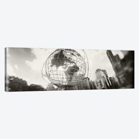 Steel globe, Columbus Circle, Manhattan, New York City, New York State, USA Canvas Print #PIM8978} by Panoramic Images Art Print