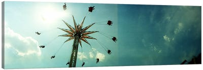 Low angle view of a park ride, Brooklyn Flyer Ride, Luna Park, Coney Island, Brooklyn, New York City, New York State, USA Canvas Art Print