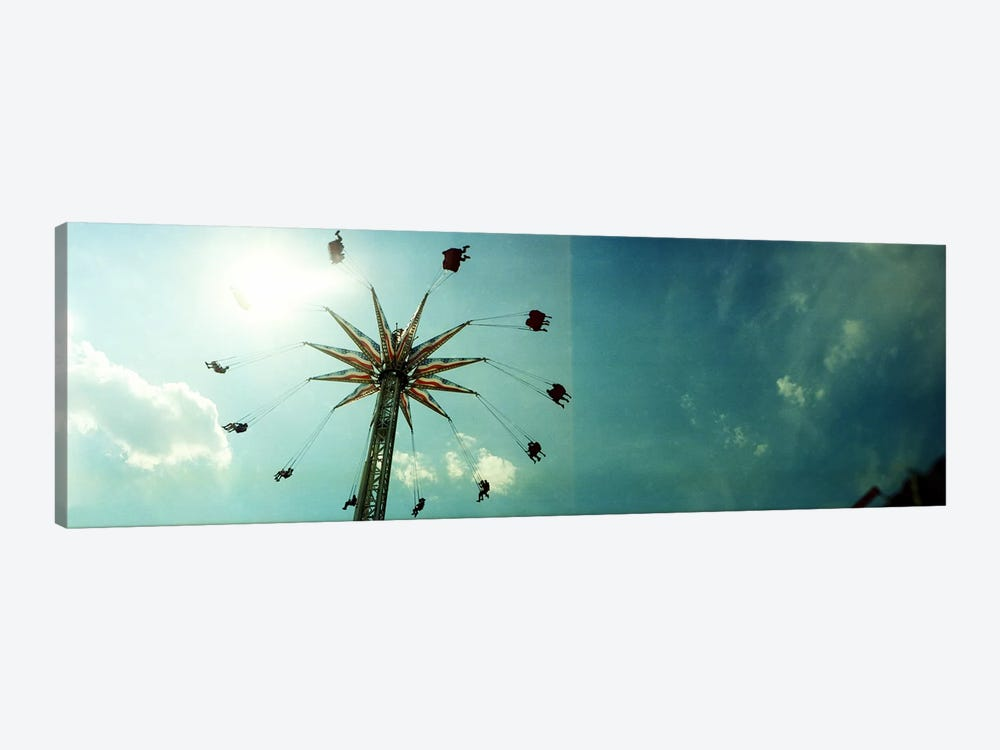 Low angle view of a park ride, Brooklyn Flyer Ride, Luna Park, Coney Island, Brooklyn, New York City, New York State, USA by Panoramic Images 1-piece Canvas Print