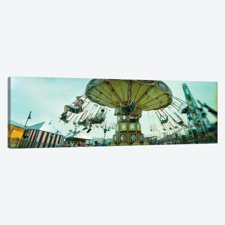 Tourists riding on an amusement park ride, Lynn's Trapeze, Luna Park, Coney Island, Brooklyn, New York City, New York State, USA Canvas Print #PIM8981} by Panoramic Images Canvas Artwork
