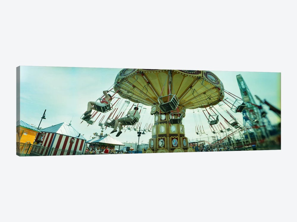 Tourists riding on an amusement park ride, Lynn's Trapeze, Luna Park, Coney Island, Brooklyn, New York City, New York State, USA by Panoramic Images 1-piece Canvas Art