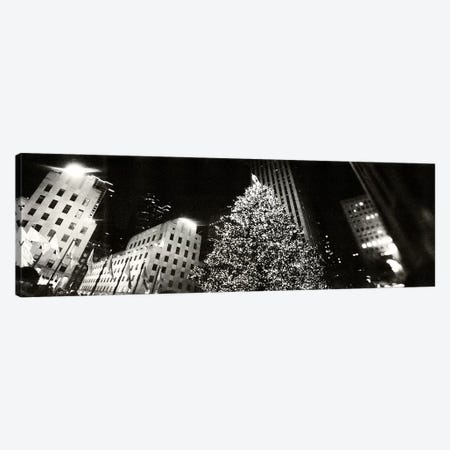 Christmas tree lit up at night, Rockefeller Center, Manhattan, New York City, New York State, USA #2 Canvas Print #PIM8984} by Panoramic Images Canvas Art Print