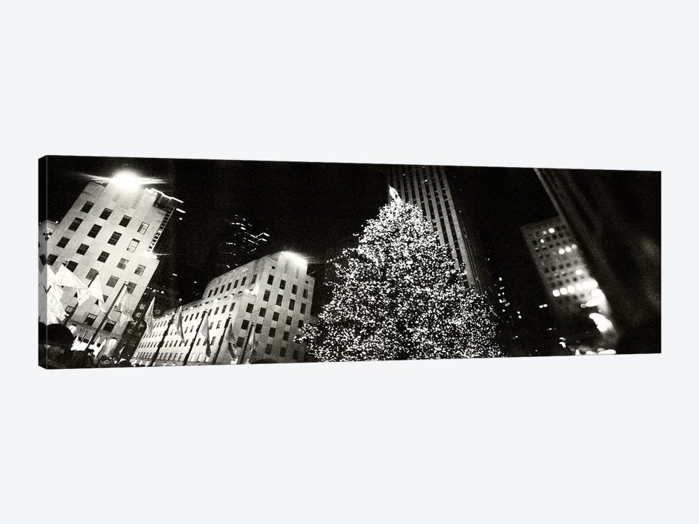 Christmas tree lit up at night, Rockefeller Center, Manhattan, New York City, New York State, USA #2 by Panoramic Images 1-piece Art Print