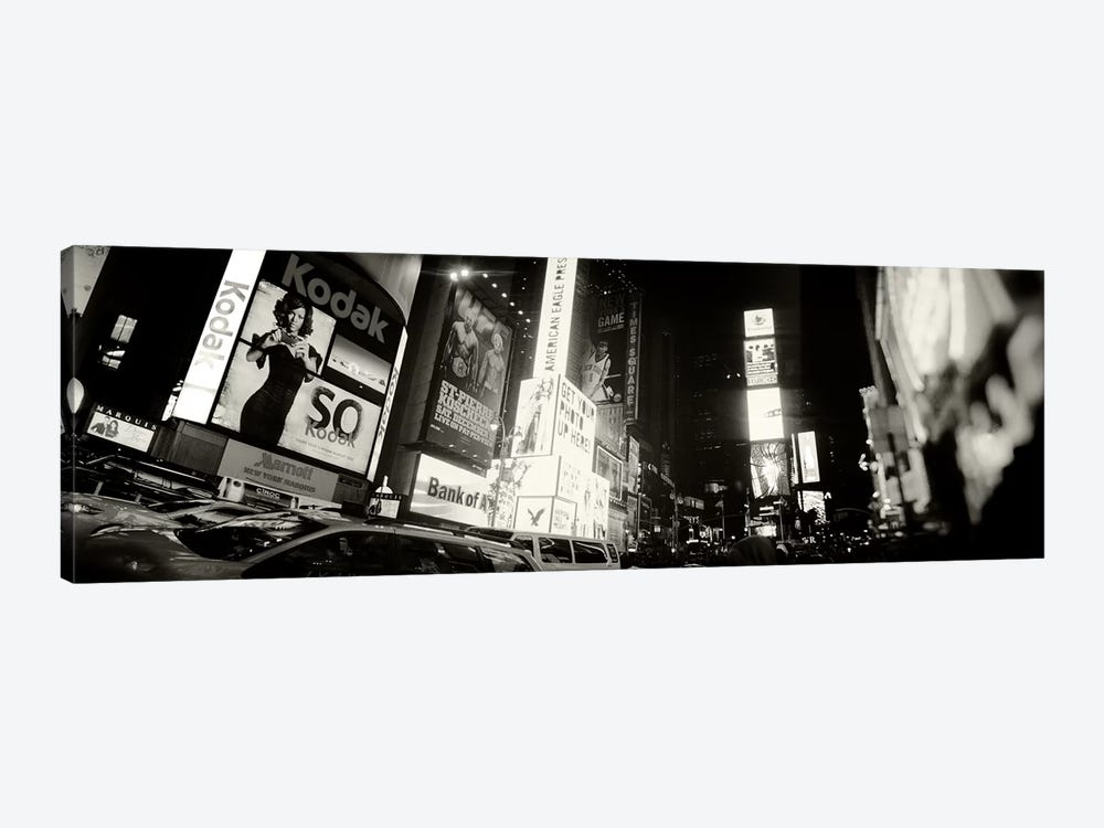 Buildings lit up at night, Times Square, Manhattan, New York City, New York State, USA #2 by Panoramic Images 1-piece Canvas Wall Art